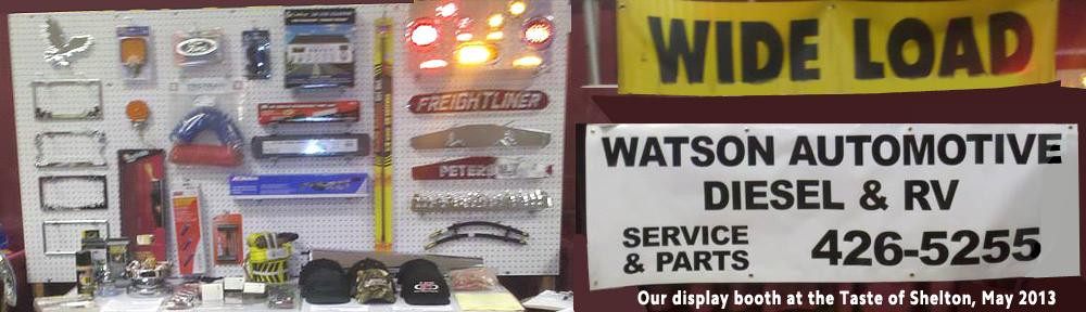 Taste of Shelton Washington - Display booth 2013 for Watson Diesel